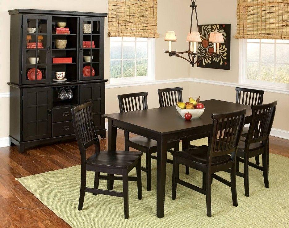 Dining Room Polished Wooden Sets Hutch Interior Design Primitive