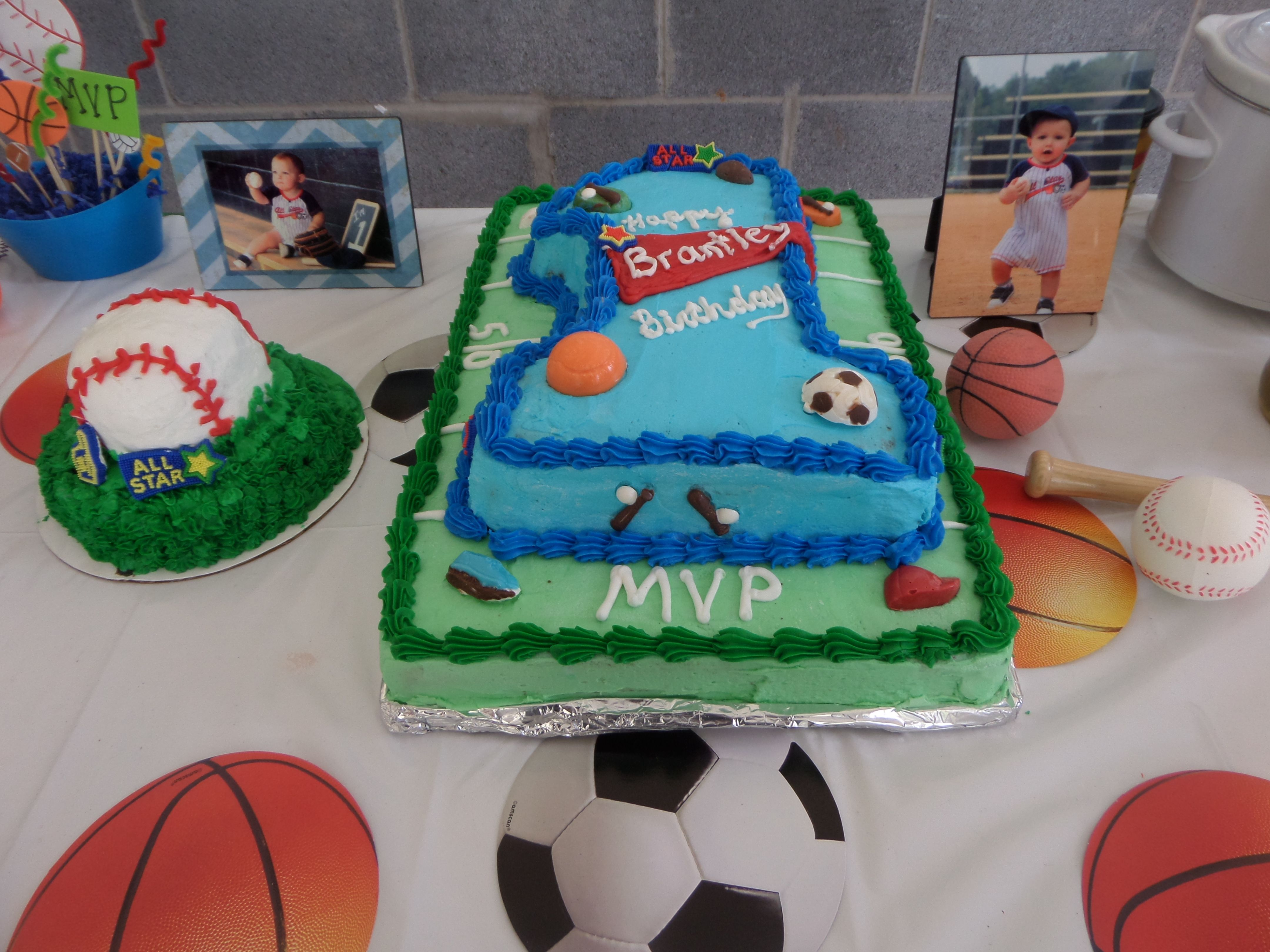 All Star Sports Theme First Birthday Party Ideas Cake And