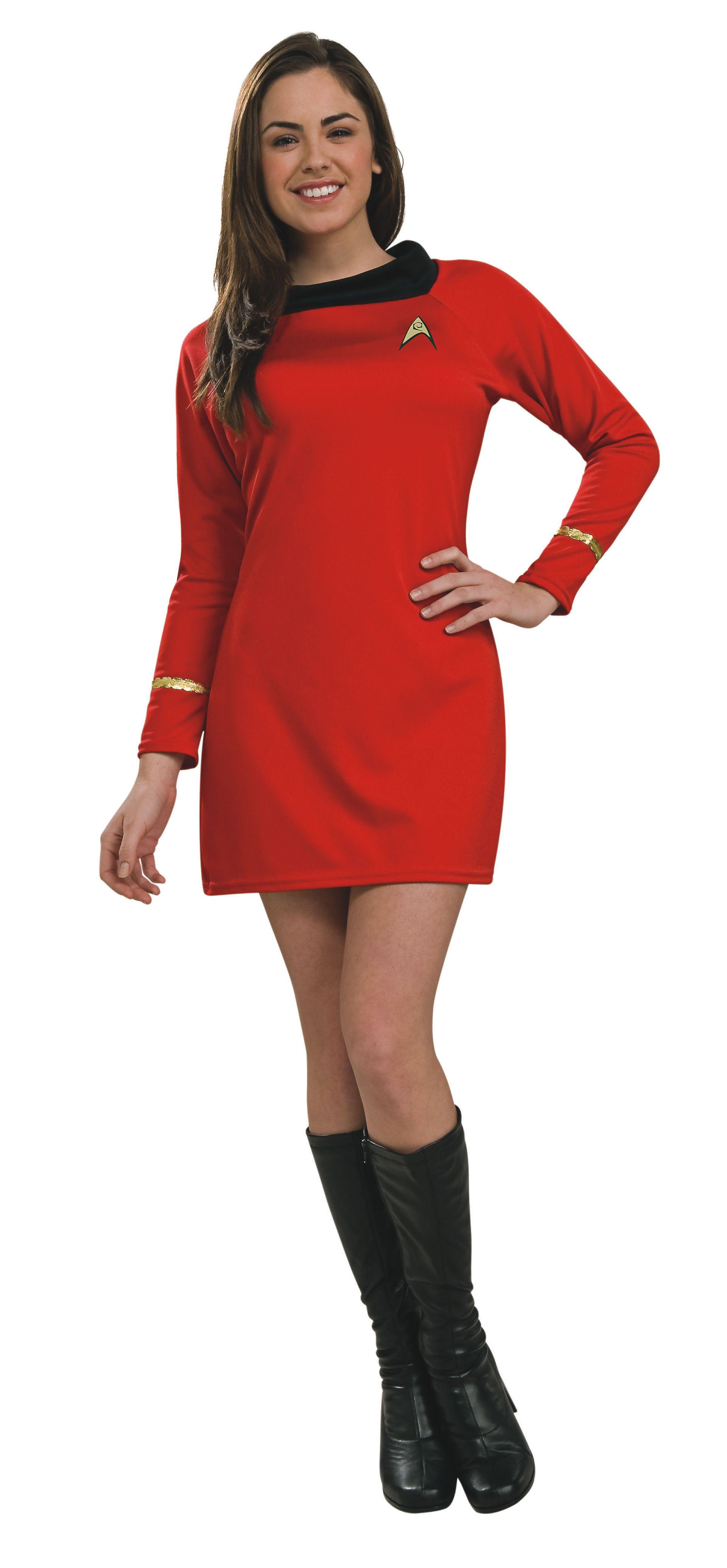 star trek uhura womens red dress costume - Uhura Halloween Costume