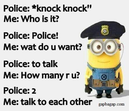 Police Joke! Stay ?
