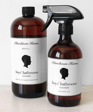 Original Fig Boys Bathroom Cleaner Set, Boys Bathroom Cleaner