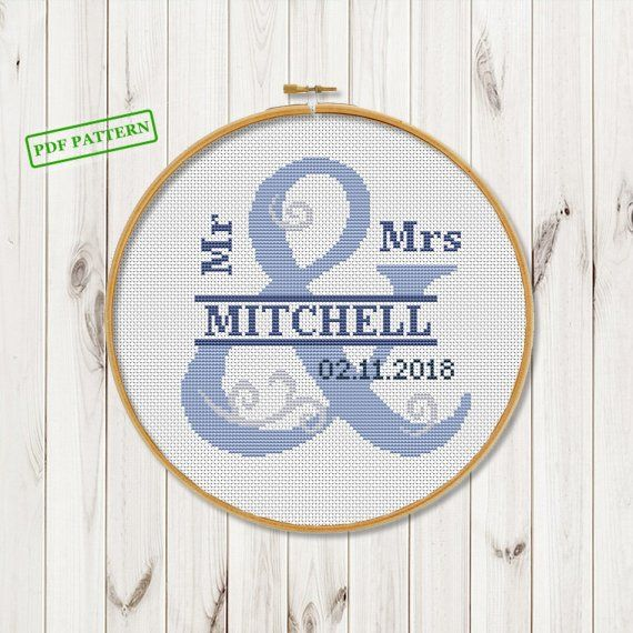 Keepsake Wedding Gifts: Custom Wedding Gifts Cross Stitch Pattern For Couple