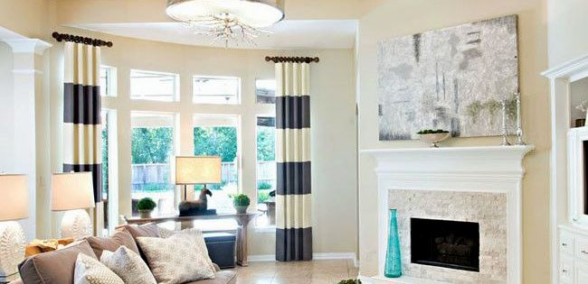 Short Rods For Stationary Panels Living Room Drapes Curtains
