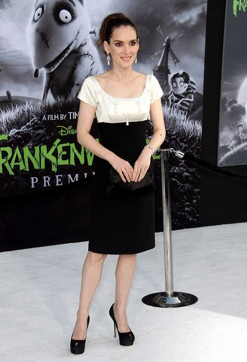 Winona Ryder at the Hollywood premiere of Frankenweenie, September 24th