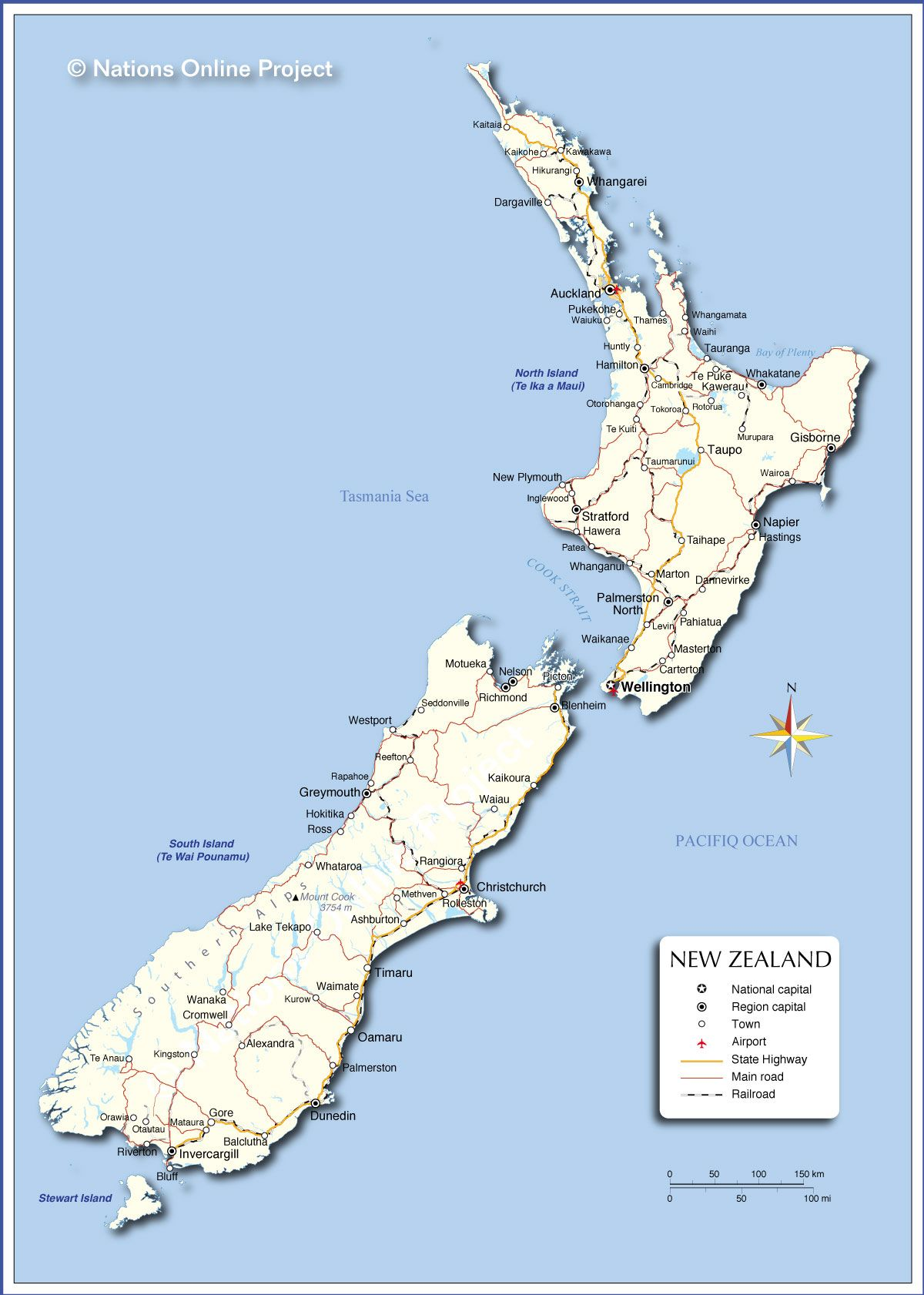 New Zealand On The Map.Political Map Of New Zealand New Zealand In 2019 Map Of New