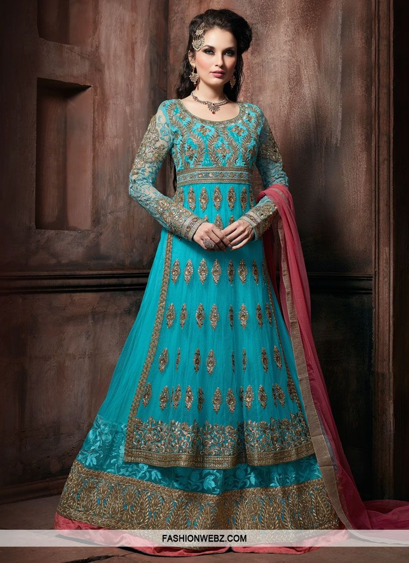 Luxurious Booti And Stone Work Layered Wedding Salwar Suit | Just My ...