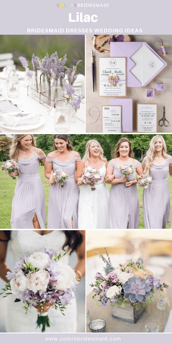 Lilac Bridesmaid Dresses In 2020 Lilac Bridesmaid Lilac Wedding