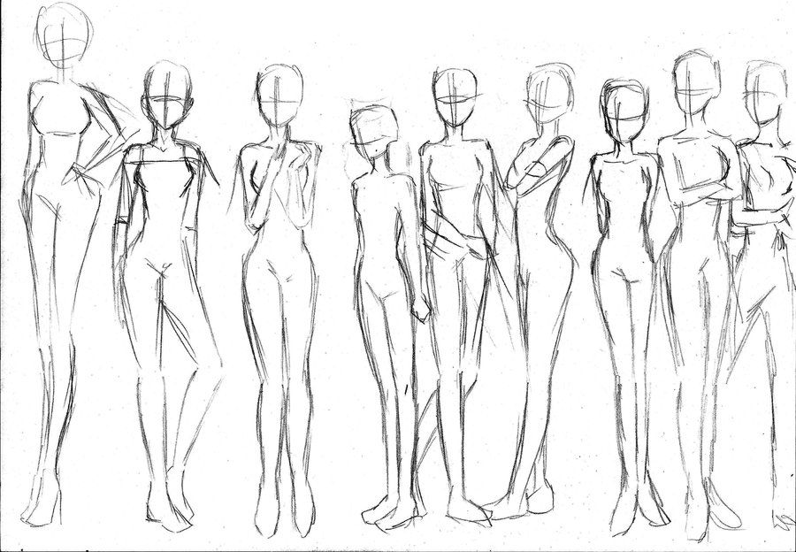 Deviantart more like sketch of a girl poses by radian the art
