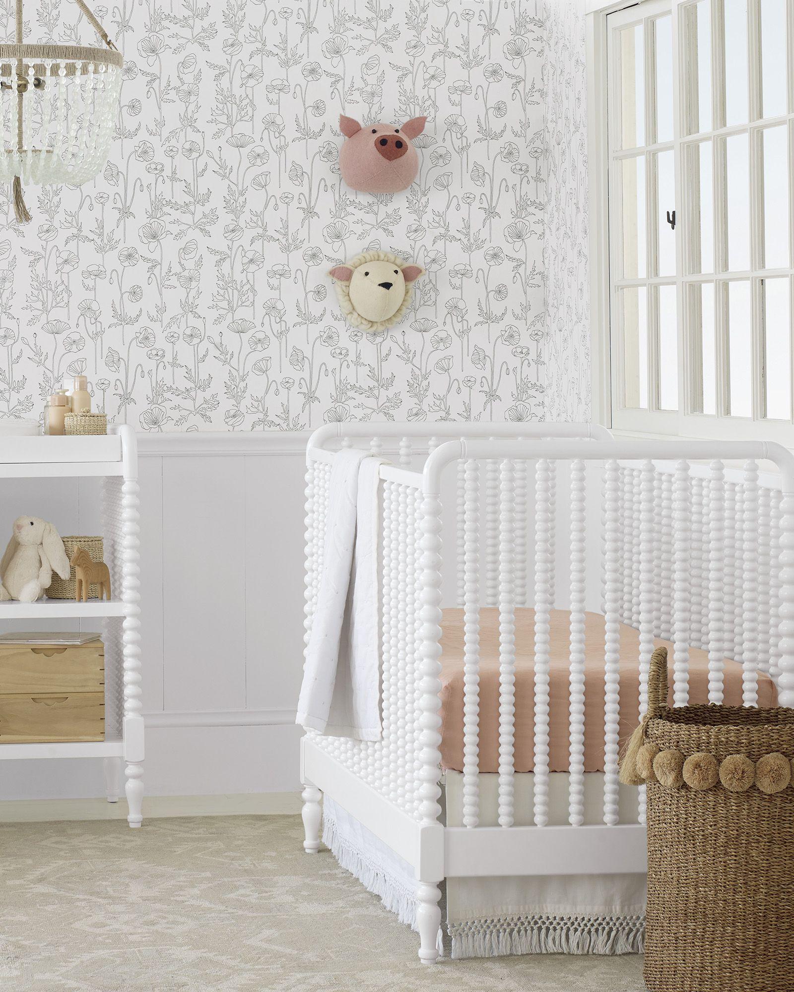 Macramé Crib Skirt (2020) Linen crib sheet, Cribs