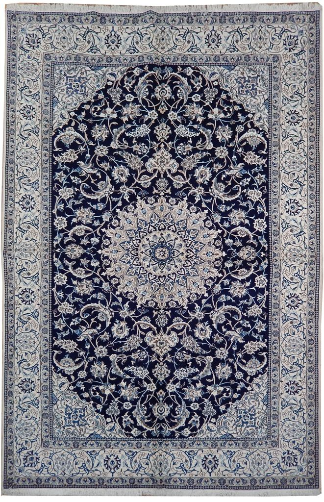 7' x 10' Hand Knotted  Persian Nain Area Rug | PIX-22020