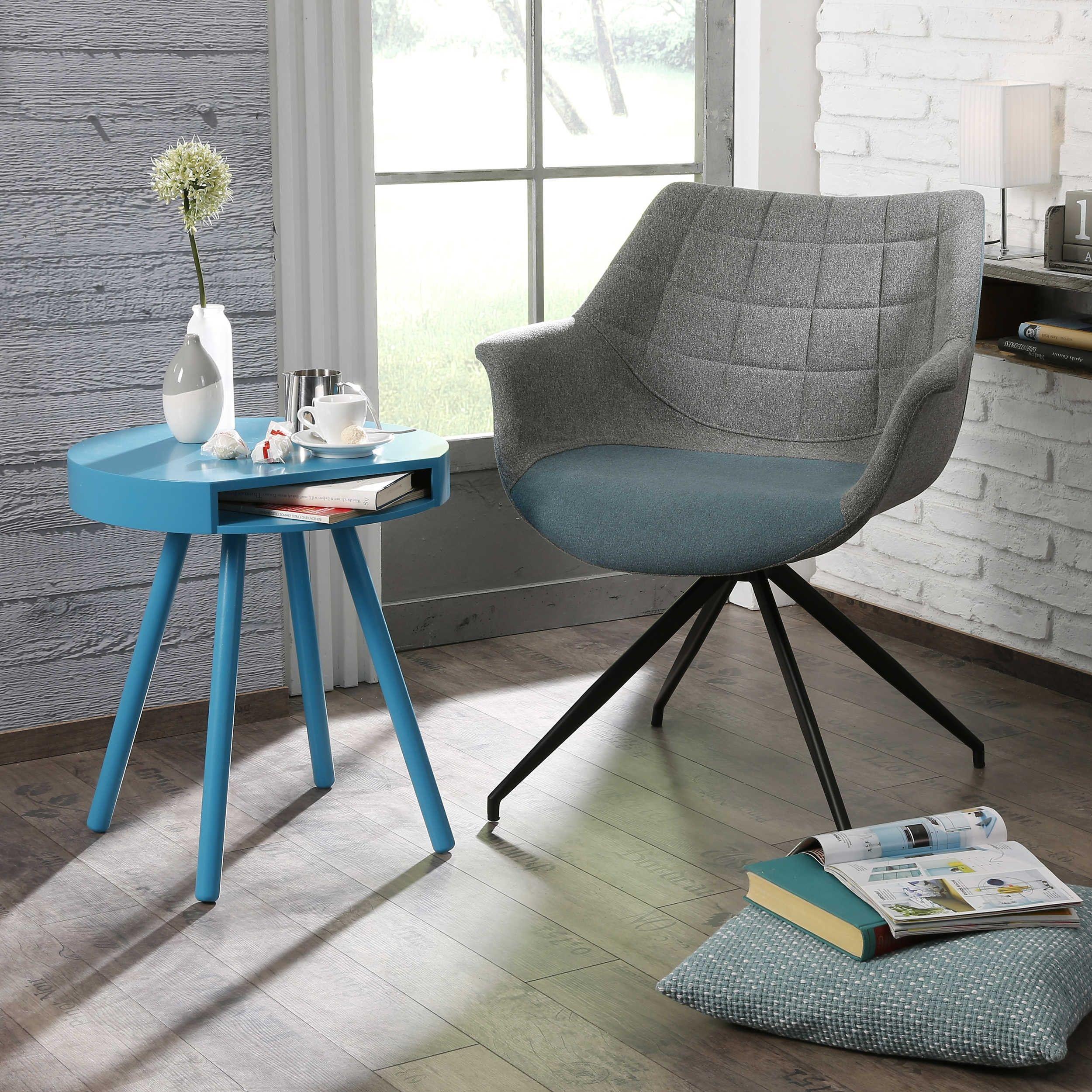 Zuiver Stuhl Doulton Grau 4 Fuß Stühle Stühle Freischwinger