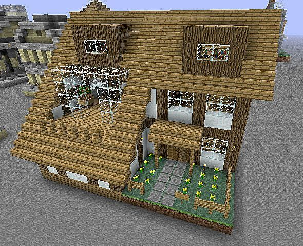 Small House Minecraft Project Minecraft Small House Minecraft Crafts Minecraft Tutorial
