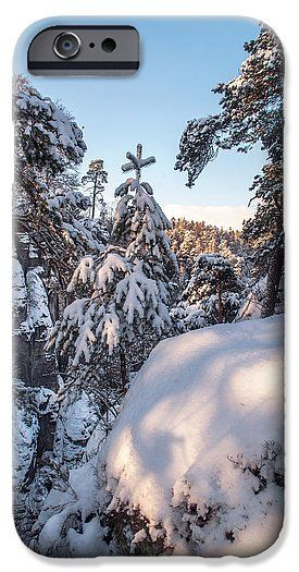 Saxon Switzerland IPhone 6s Case featuring the photograph Snow In Saxon Switzerland by Jenny Rainbow