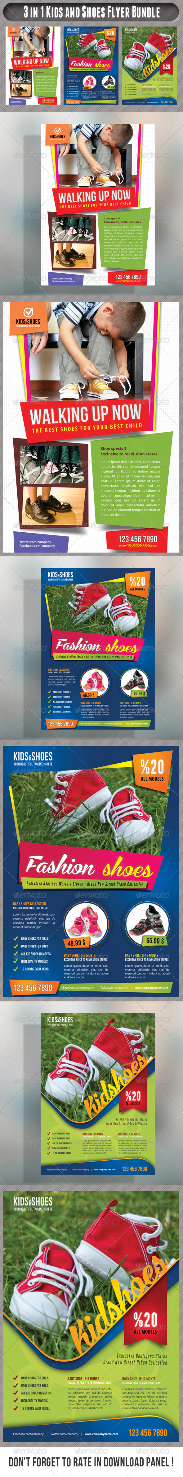 3 in 1 Kid And Shoes Flyers Bundle 01 Baby products