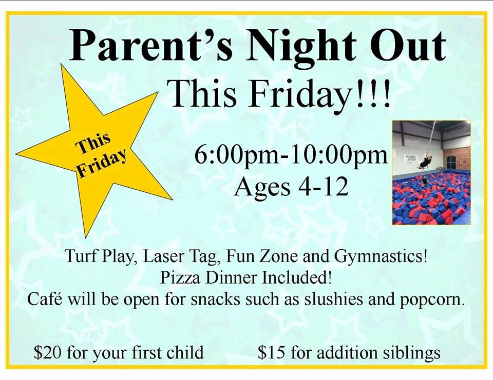 Parents Night Out Flyer Template Awesome Pin Daycare Flyer On Pinterest Flyer Template Parent Night Flyer