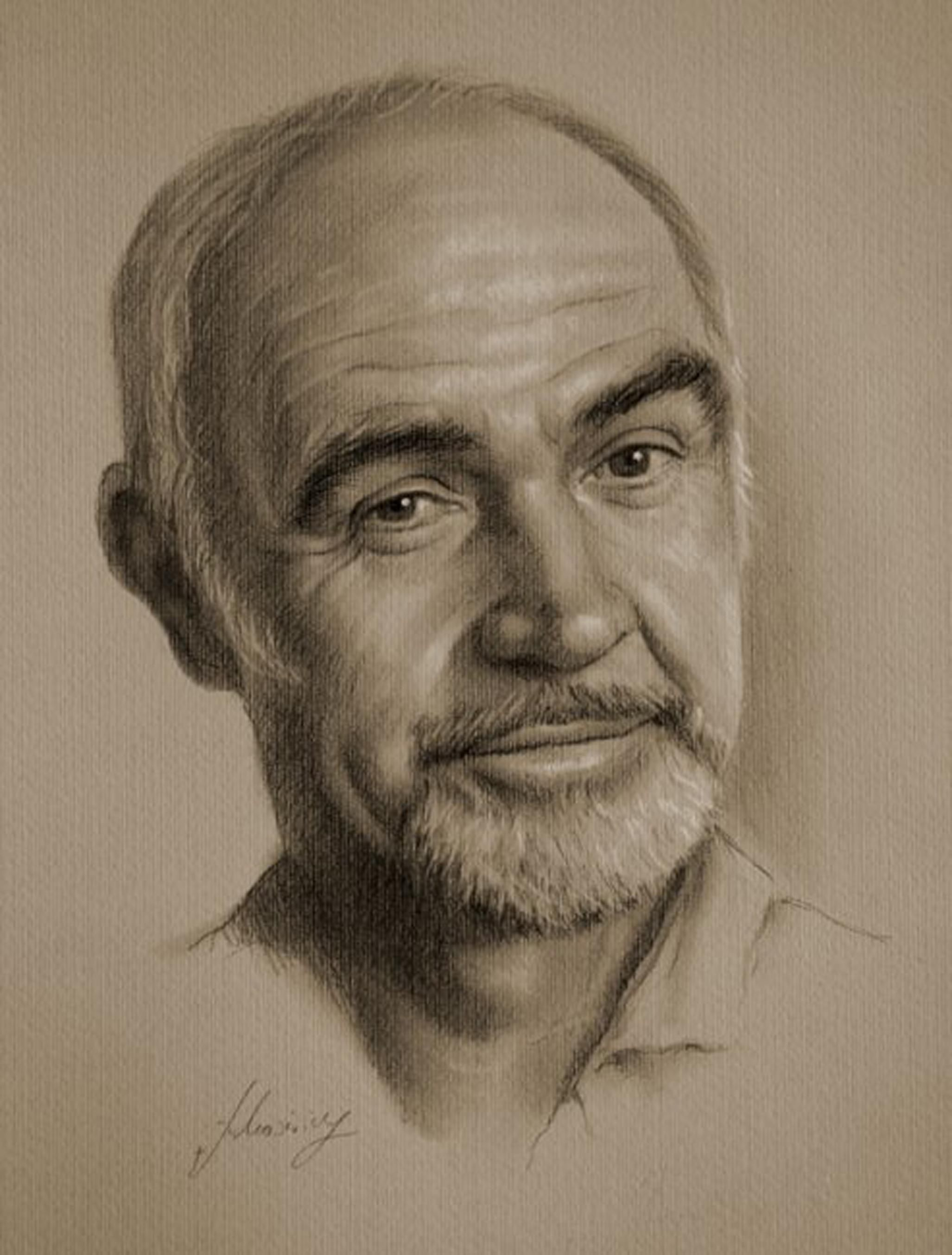 In pencil armed with graphite and beige paper pencil wielding polish artist krzysztof lukasiewicz portrays famous faces