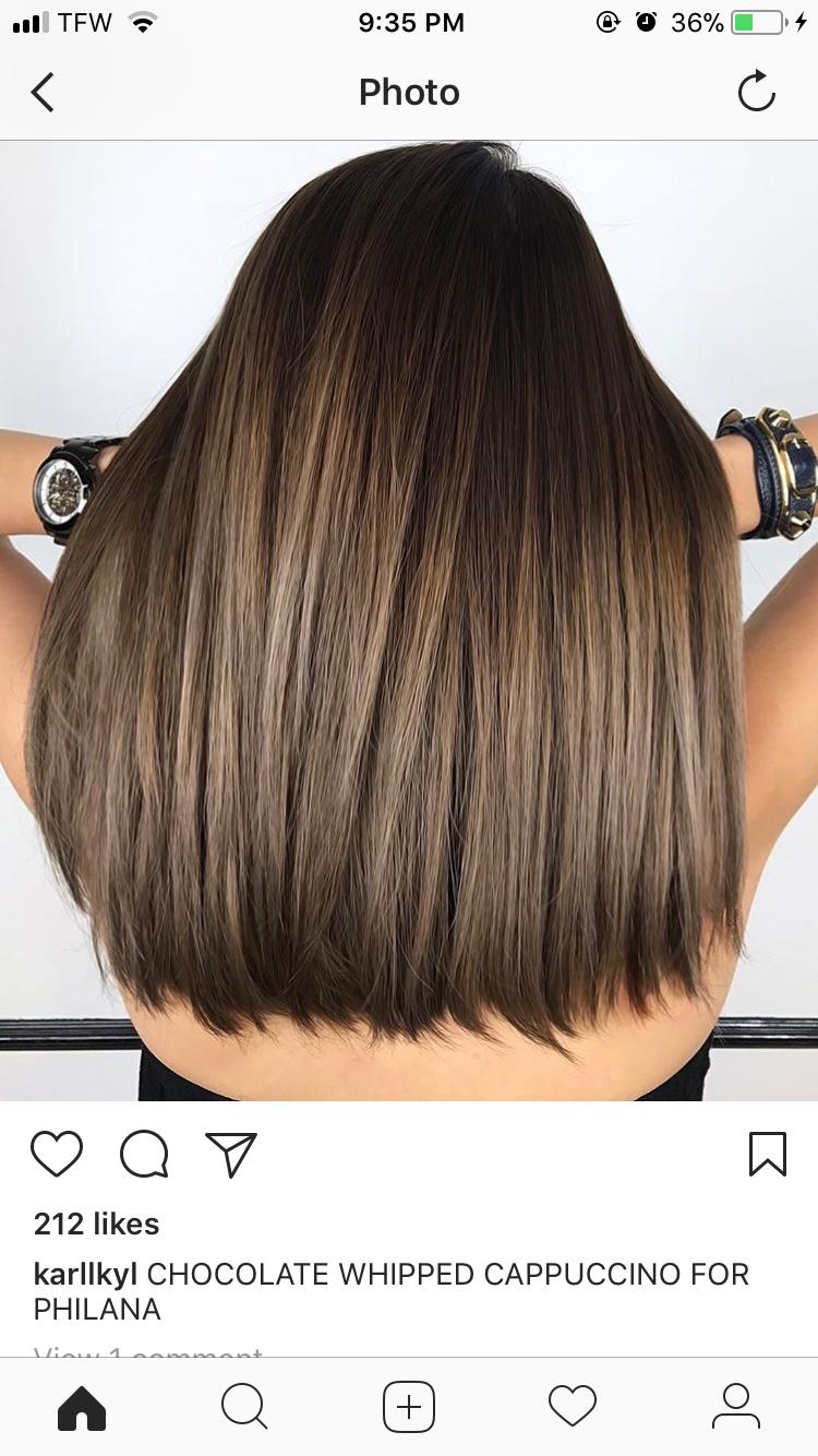 Dark Brown Hair With Highlights And Dark Brown Tips Highlights With Dark Tips Light Hair Color Hair Highlights Brown Hair Balayage
