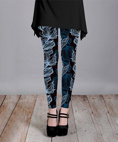 Look what I found on #zulily! Blue & Ice Floral Leggings - Plus Too by Lily #zulilyfinds