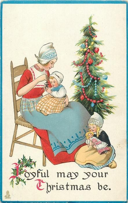 Joyful may your christmas be dutch mother sits in chair with baby on cards joyful may your christmas be dutch m4hsunfo