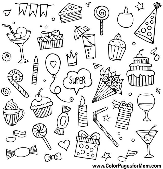 Doodles 104 Advanced Coloring Page