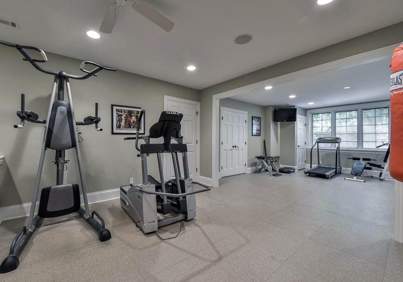 Downers Grove Basement Remodel With Sauna Steam Shower Office Sebring Design Build Gym Room At Home Home Gym Design Remodel Bedroom