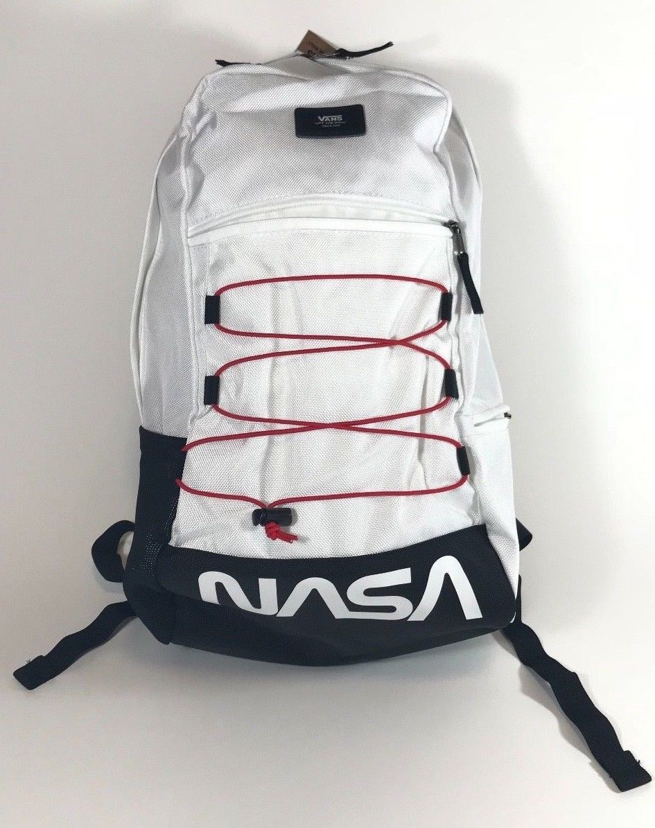 Vans x Nasa MN Snag Plus Backpack White Brand New With Tags Rare ...