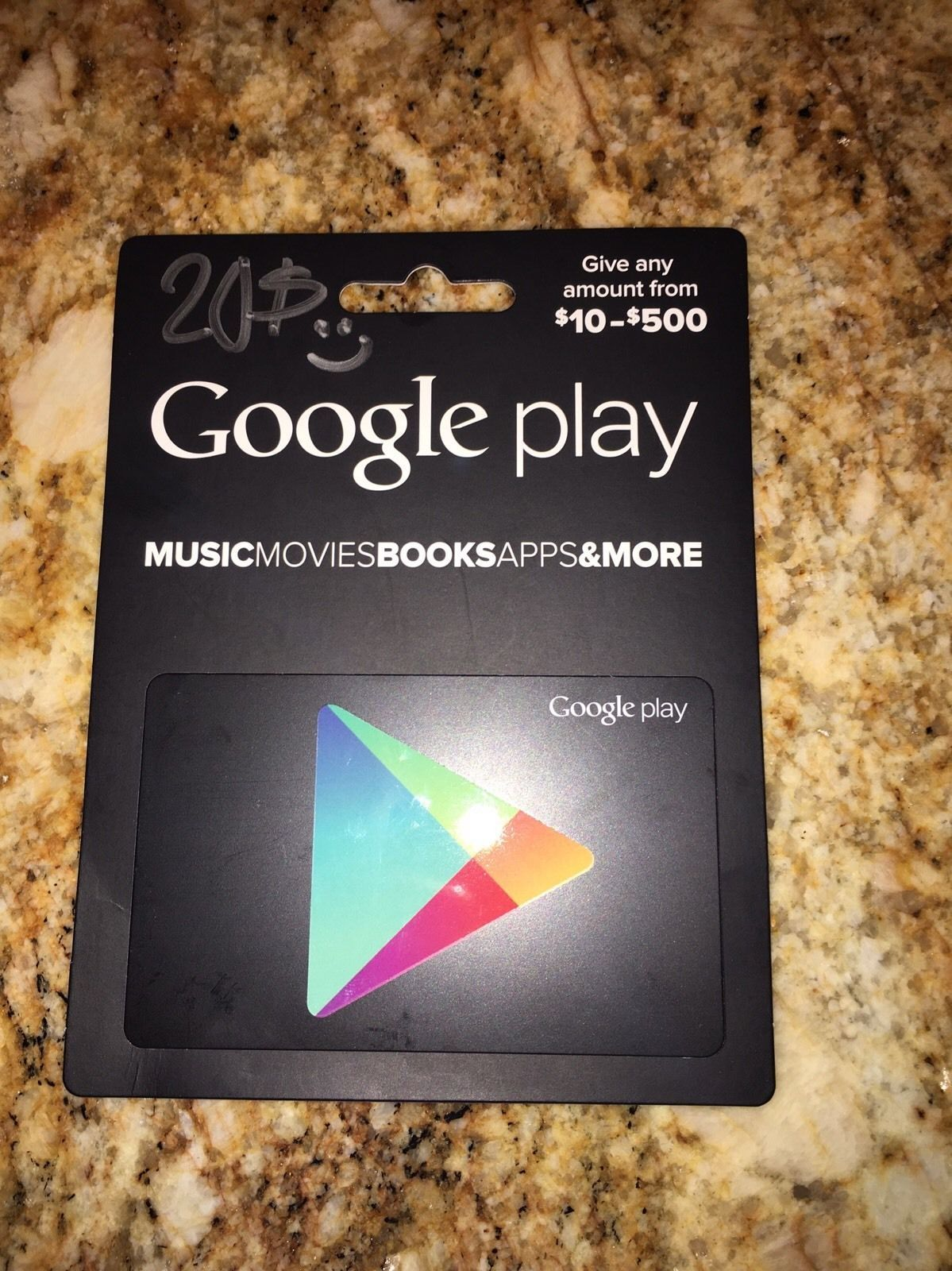 20 Google Play Gift Card Sent Through Email Http