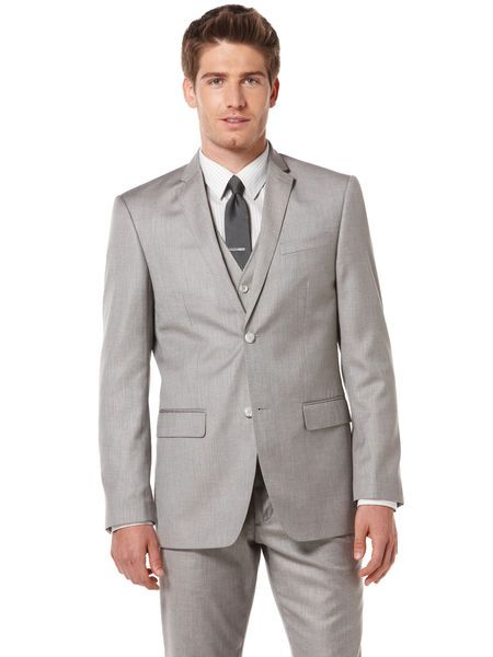 Perry Ellis Textured Three-Piece Suit | Three piece suits ...