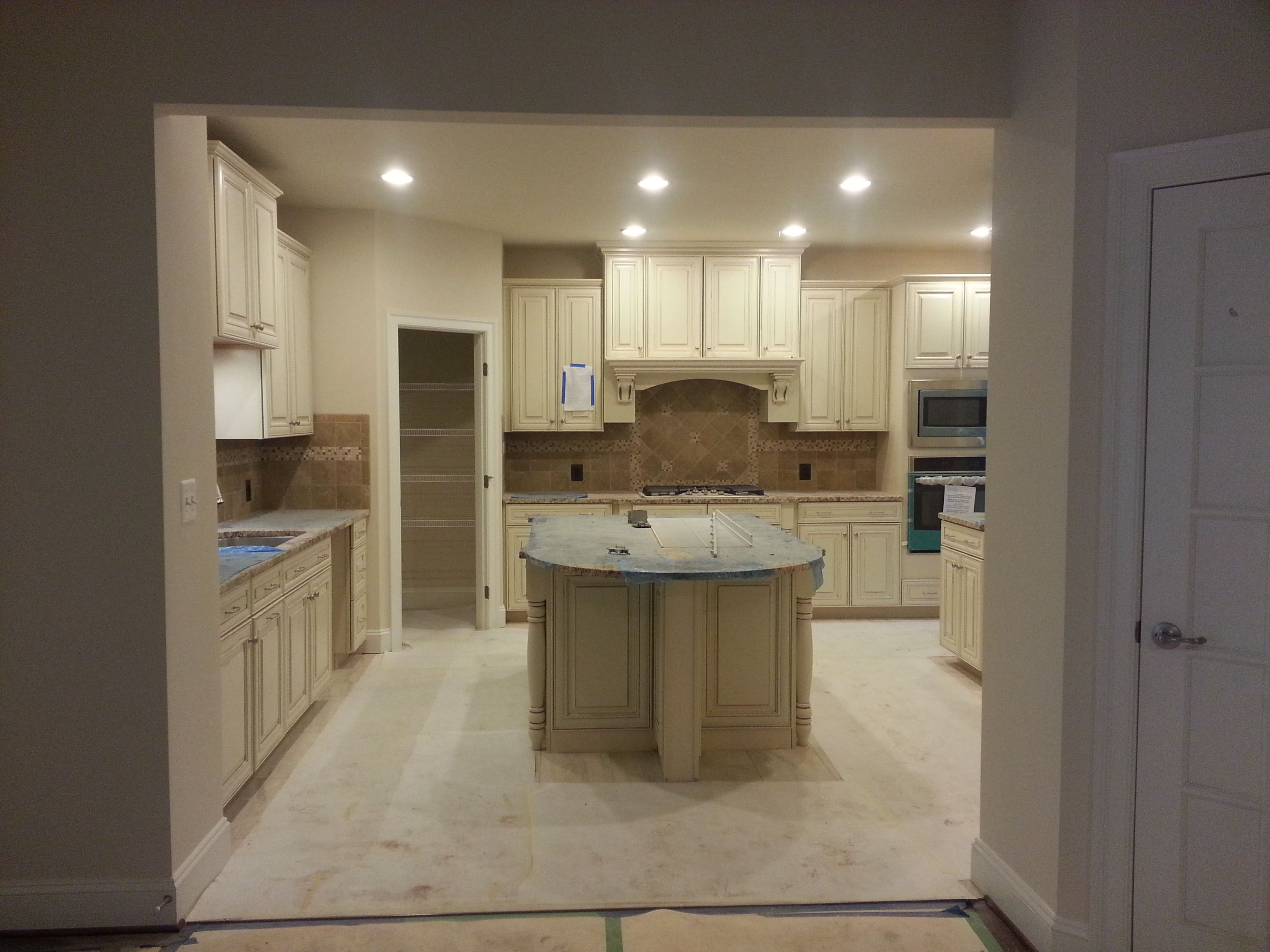 Attractive Here Is Our Kitchen During The Construction Of Our Home. Cabinets Are  Timberlake Sierra Vista