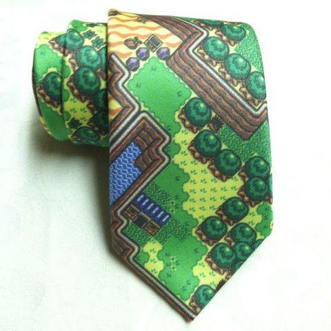 The Legend of Zelda Ties Zelda Hyrule Necktie Green