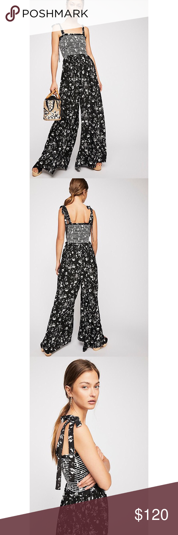 68fcd9210c0b FREE PEOPLE COLOR MY WORLD WIDE LEG JUMPSUIT New with tag. 🚫 Trades Printed  jumpsuit