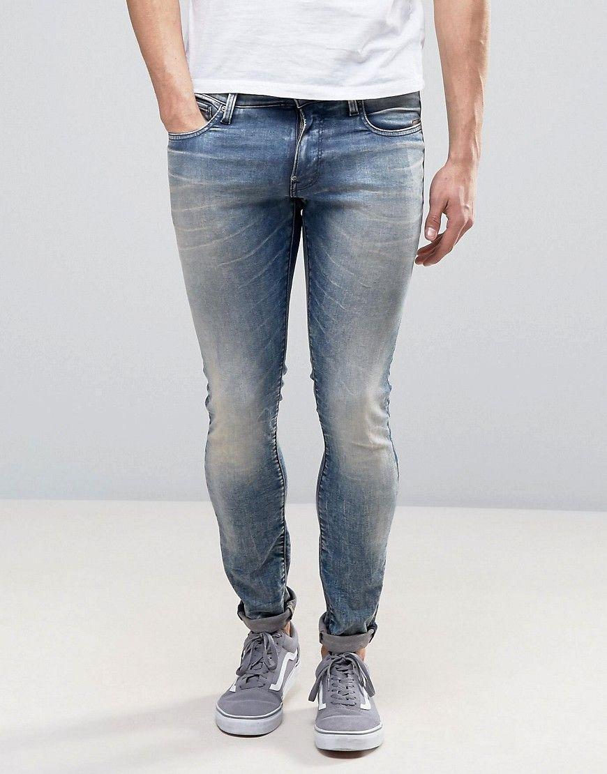 G Star Revend Super Slim Jeans Light Aged Wash Blue Mens Jeans Slim Slim Jeans