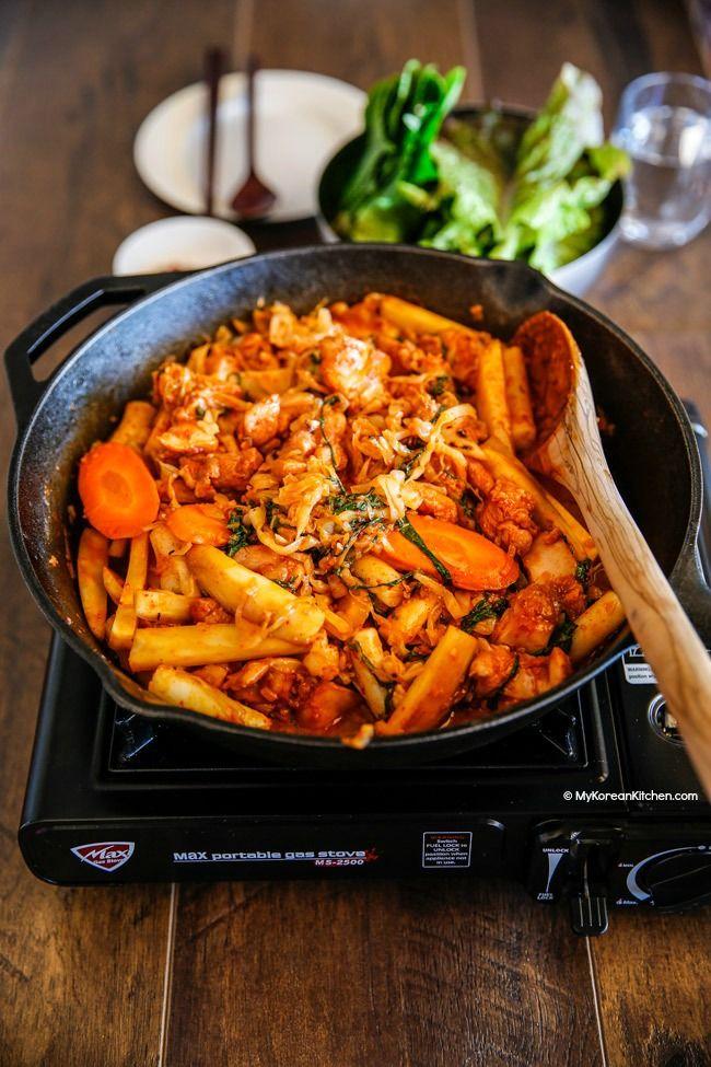 Dak Galbi Korean Spicy Chicken Stir Fry Recipe