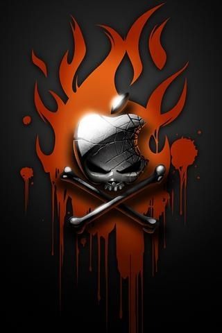 Apple IPhone Skull Wallpaper