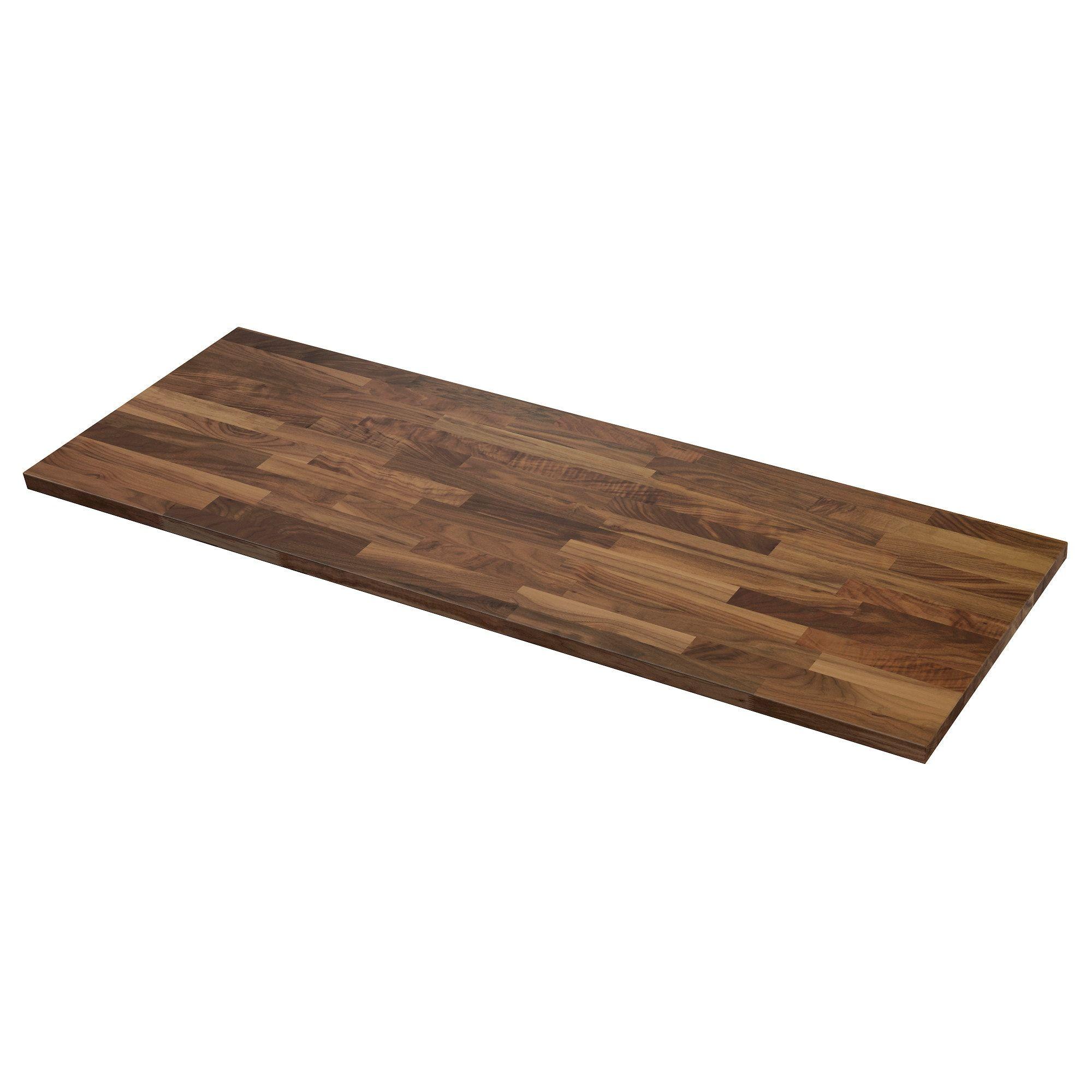 Karlby Countertop Walnut Veneer 98x1 1 2 Ikea Karlby Countertop Wood Countertops Ikea