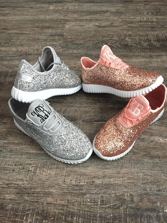 31e14ec0313d New monogram glitter bomb sneakers are in stock and ready for summer!! Our  lace up glitter sneakers run true to size and will come monogrammed.