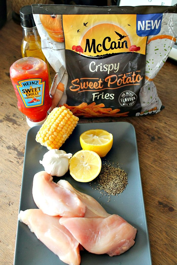 Sweet Chilli Chicken With Mccain Sweet Potato Fries Recipe