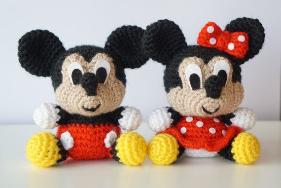 Amigurumi Facil Patron : Pack in mickey mouse and minnie mouse disney amigurumi