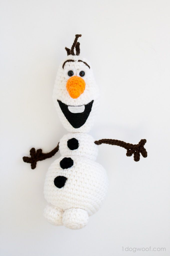 Olaf From Frozen Crochet Amigurumi Pattern Craft Yarn