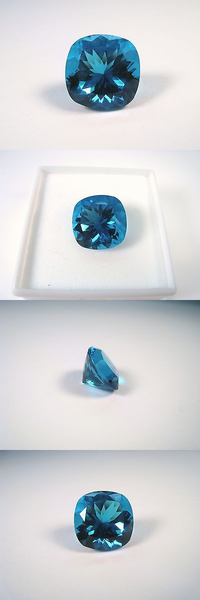 Other Loose Stones 169310: Loose 6.50 Ct 12 Mm Cushion Cut Paraba Ice Simulant Gemstone BUY IT NOW ONLY: $59.0