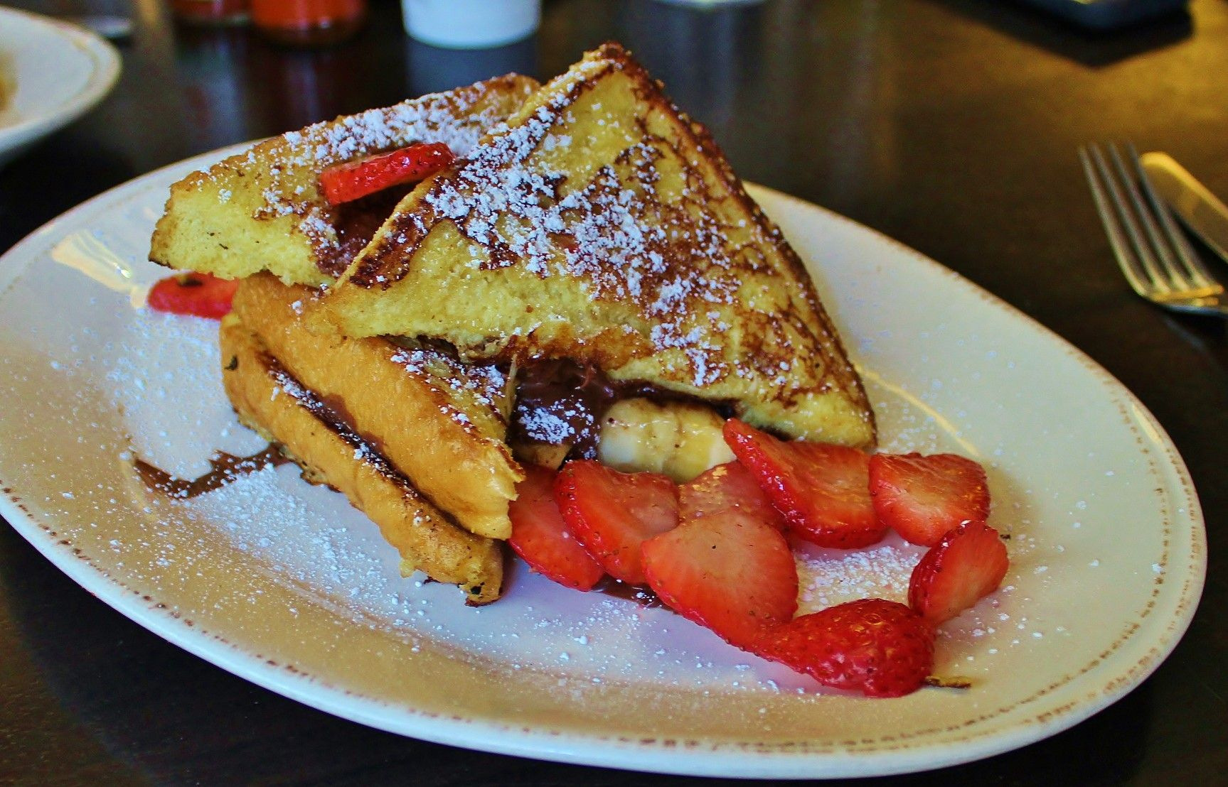 Nutella Stuffed French Toast thick slices of french toast
