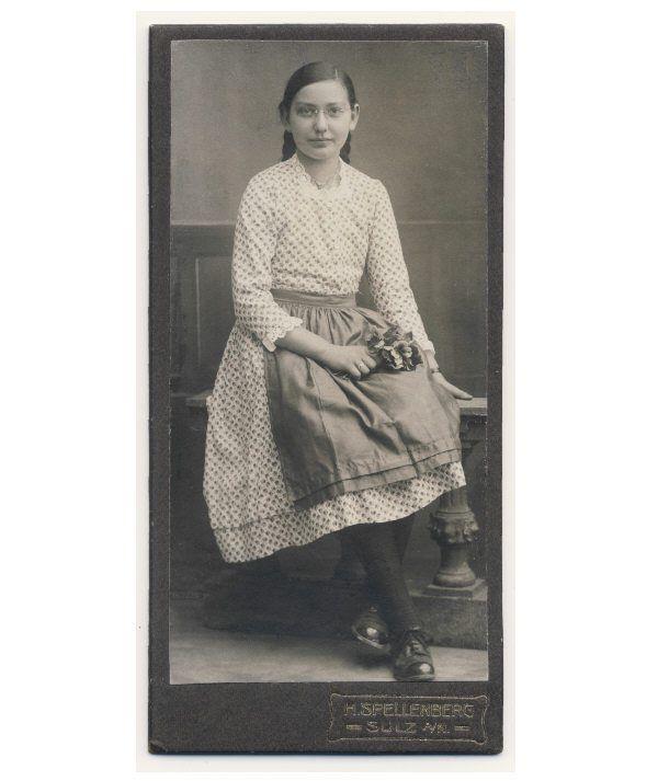 Young Girl w Flowers Wearing Eye Glasses CDV Photo C1910 | eBay