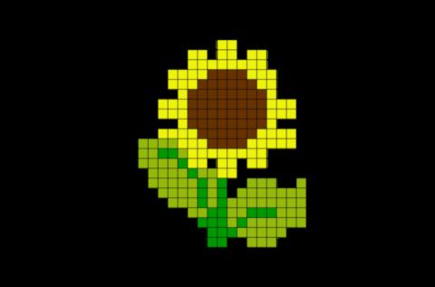 Sunflower Pixel Art   Pixel art, Lego art, 8 bit art