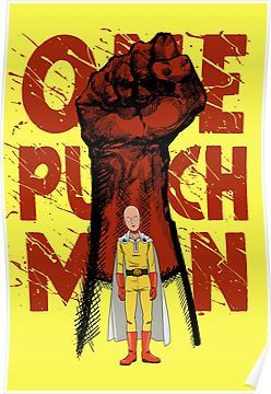 One Punch Man Posters One Punch Man Poster One Punch Man Anime One Punch Man