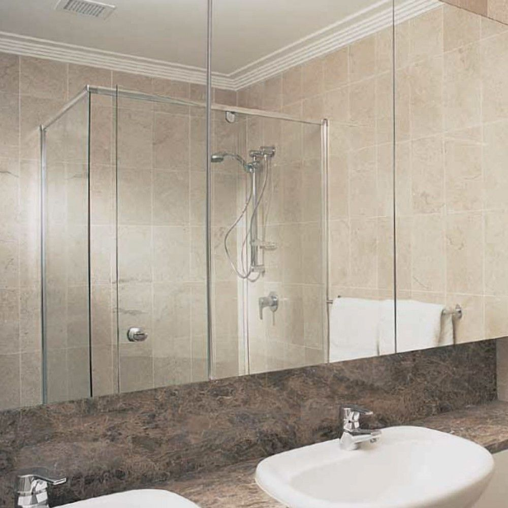 Installed Semi Frameless Shower Screen   SHOP NOW: The Blue Space ...