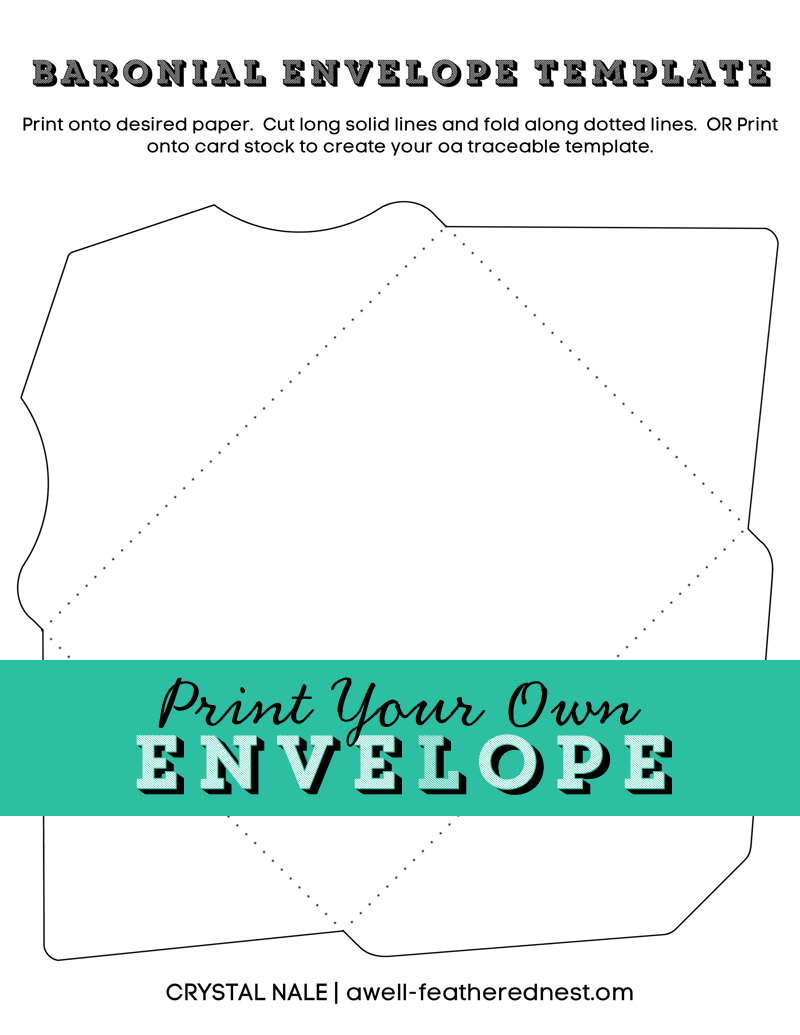 A WellFeathered Nest Printable Envelope Template  Printables