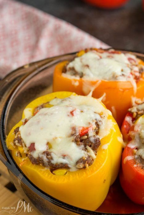 Instant Pot Stuffed Bell Peppers Make A Delicious Balanced Meal Of Beef Rice And Vegetables An Instant Pot Pressure Stuffed Peppers Recipes Instapot Recipes