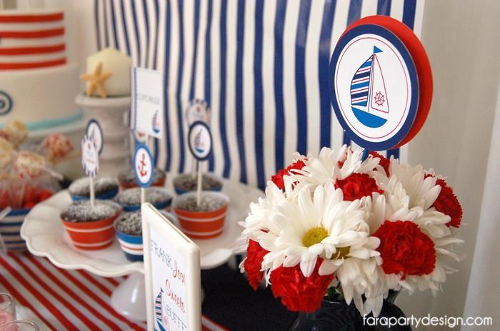 Wonderful Nautical Party Theme Ideas Part - 13: Nautical Party Full Of Really Great Ideas Via Karau0027s Party Ideas |  KarasPartyIdeas.com #