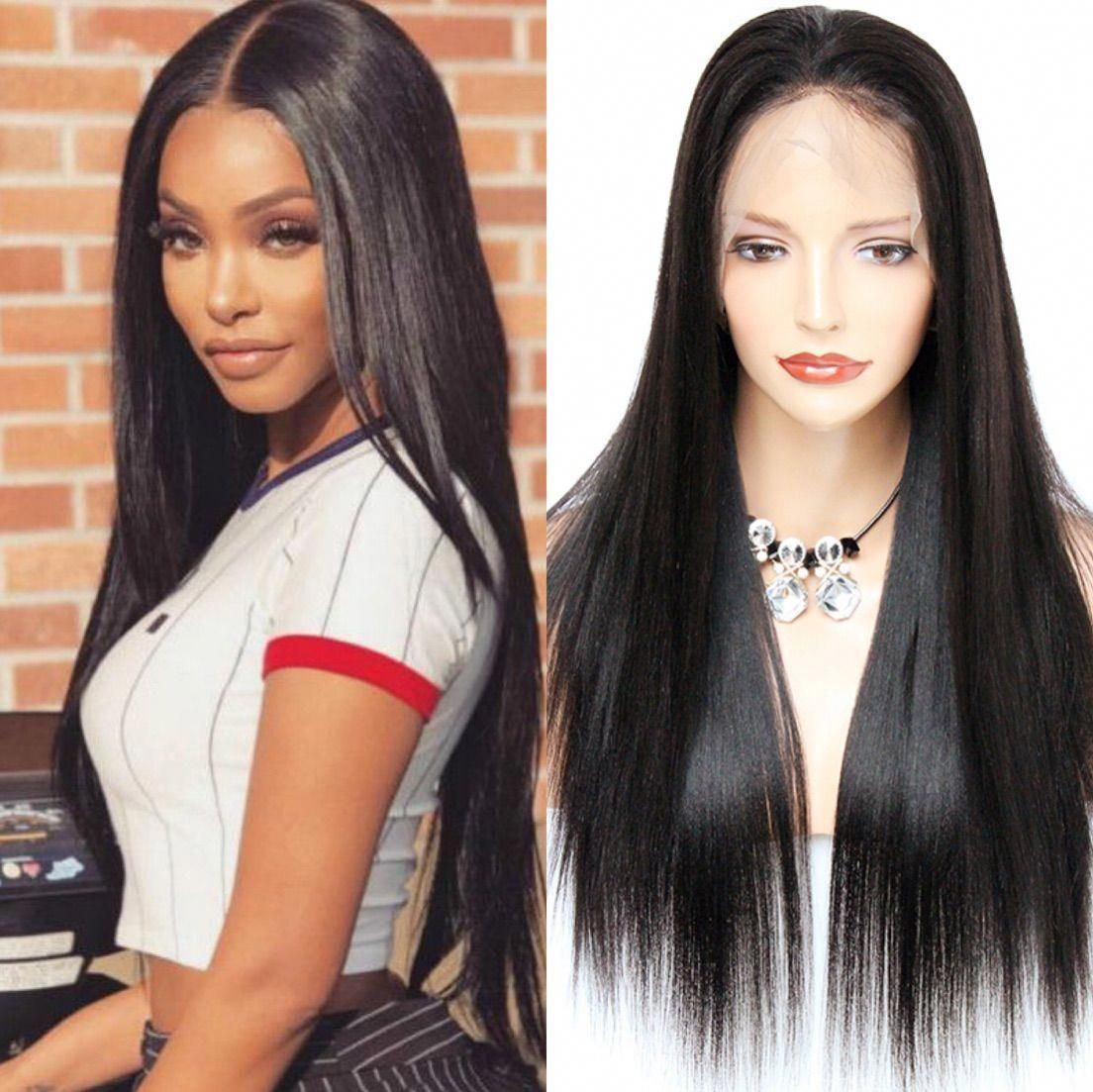 Straight long hairstyles wigs for black women