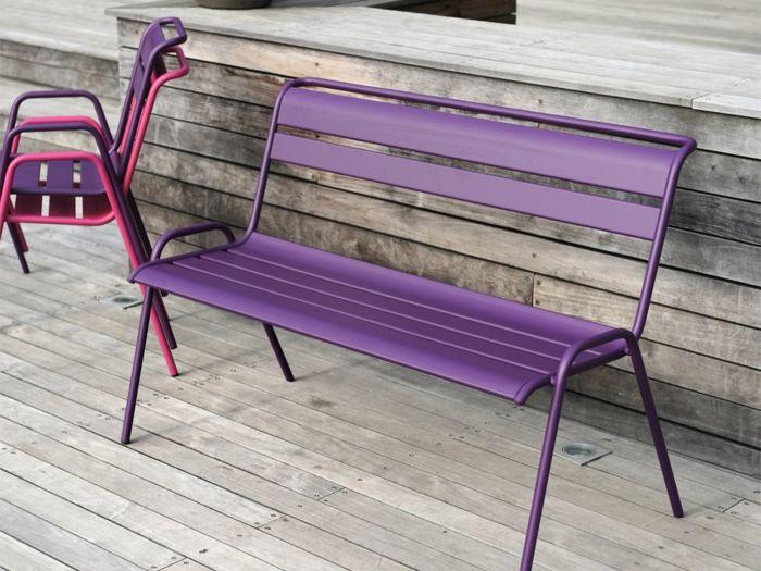 banc de jardin en acier | Meubles extérieurs | Pinterest | Banc de ...